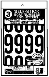 """Hy-ko Mm-144-b Self-adhesive Boat Number And Letters, 3"""", Black"""