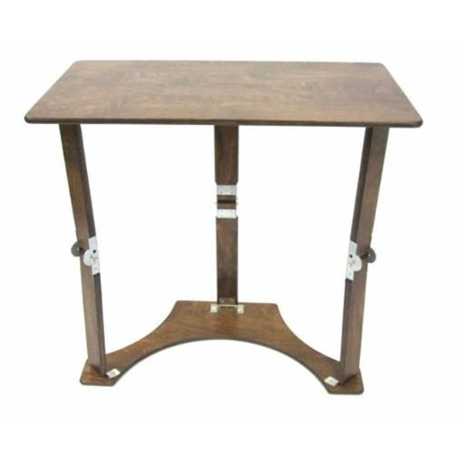 Spiderlegs Tables, Inc Dark Walnut Color Wooden Folding Laptop Desk And Tray Table