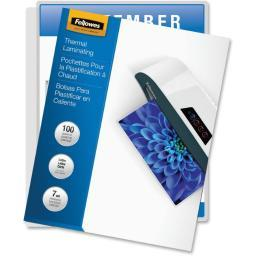 Fellowes, inc. 52041 laminating pouches letter 7mil 100pk,dds must be ordered in multiples of case qt