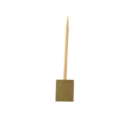 PacknWood 209BBBHUT10 3.94 In. Boot Single Prong Bamboo Skewer With Block End, Pack Of 480 FBNFE4C2WNWFPEOK
