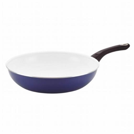 Farberware 17491 12.5 in. Nonstick Cookware Deep Skillet Blue