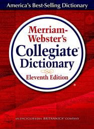Merriam-Webster 040254 Merriam-Webster Collegiate - 11th Edition Hardcover Dictionary with Electronic Version & Online Subscription, 7.25 x 9.875 in
