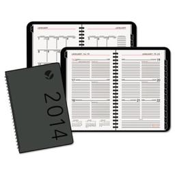 At-A-Glance 70100X05 Contemporary Wirebound Weekly-Monthly Planner  4.88 x 8  Black  2013