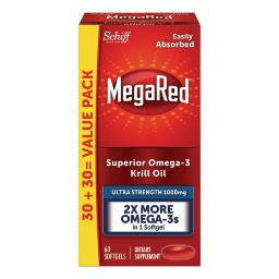 Ultra Strength Omega-3 Krill Oil Softgel 60 Count   Total Quantity: 1