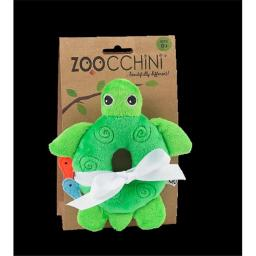 Zoocchini 41004 Baby Buddy Rattles with Turtle, Green, 4 x 6 in.