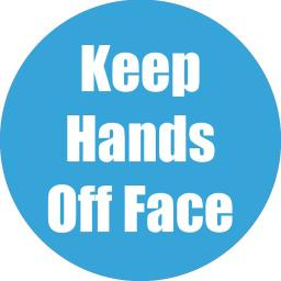 Flipside products keep hands off face cyan anti-slip