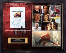 Spiderman - Signed Movie Script in Photo Collage Frame