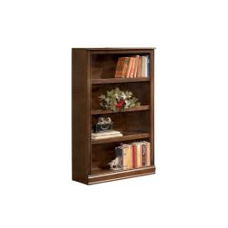 Traditional Style Wooden Bookcase with 4 Tier Shelf Setup, Brown