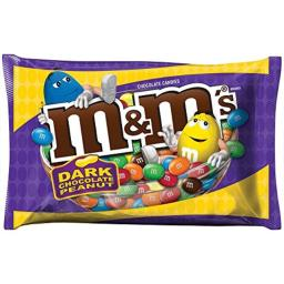 M&M's Peanut Dark Chocolate Candy 19.2-Ounce Bag (Pack of 4)
