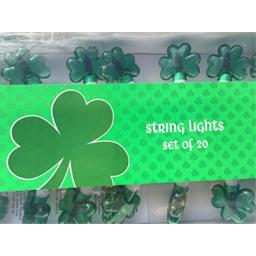 St Patricks Day String Lights - St Pattys Day - Shamrock Lights - Large Set of 20 Bright Green Shamrocks Brings Tons of Fun To Any St Pattys Day Event - String Lights - St Pattys Day Decorations