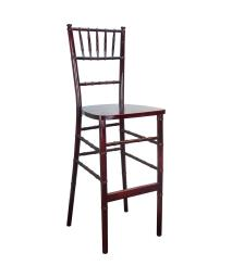 Offex Stackable Traditional Mahogany Chiavari Bar Stools