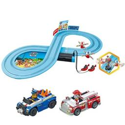 Carrera First Paw Patrol - Slot Car Race Track - Includes 2 Cars: Chase and Marshall - Battery-Powered Beginner Racing Set for Kids Ages 3 Years and Up, Multi
