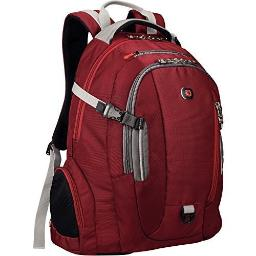 """Swiss Gear Commute Laptop Backpack With 16"""" Laptop Pocket & 10"""" Tablet Pocket - Red"""