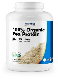 Nutricost Organic Pea Protein Isolate Powder (5LBS) - Unflavored, Protein from Plants, Gluten Free, Non-GMO