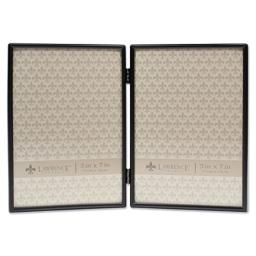 Lawrence Frames 5x7 Hinged Double Simply Black Picture Frame