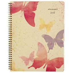 "AT-A-GLANCE 791-905G-18 Weekly/Monthly Planner, January 2018 - December 2018, 8-1/2"" x 11"", Recycled, Watercolors (791-905G)"