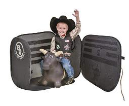 Big Country Toys Lil Bucker & Pbr Chute Combo Kids Hopper Toy Bull Riding Toy With Bull Rope Rodeo Toys Pbr Bouncy Bull Pbr Bucking Chute