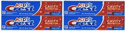 Crest Kid's Crest, Fluoride Anticavity Toothpaste, Sparkle Fun Flavor, 4.6 Ounce Tubes Pack of 4