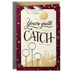 Hallmark Harry Potter Valentine's Day Card for Significant Other (Golden Snitch)