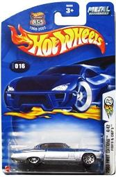 Mattel Hot Wheels 2003 First Editions 1:64 Scale Silver & Blue Fish'd & Chip'd Die Cast Car #016