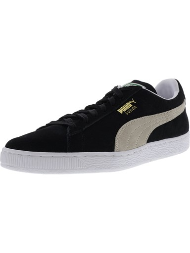 0089cf888db7 Puma Puma Men s Suede Classic + Black   White Ankle-High Fashion Sneaker -  8.5M Puma