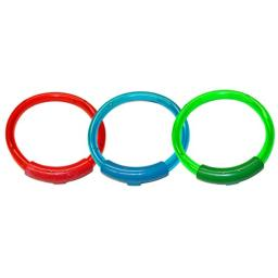 Water Sports Lighted Dive Rings Pool Accessory, Assorted