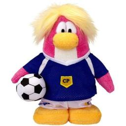 Disney Club Penguin 6.5 Inch Series 14 Plush Figure Soccer Girl Includes Coin with Code!