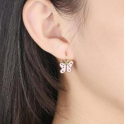 Butterfly Leverback Earring in 18K Rose Gold Plated
