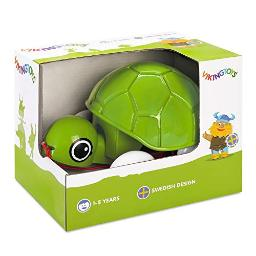 Viking Toys - Pull Along Turtle - First Pull Toy with Bobbing Head, Rolls Silently, for Kids Ages 1 +