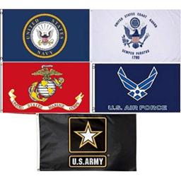 Wholesale Lot 5 3x5 Branches Military USAF USCG USMC Army Navy Set Flag 3'x5' #6 Fade Resistant Double Stitched Premium Quality