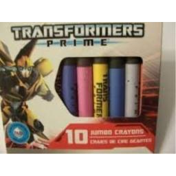 Hasbro Transformers Prime Set of 10 Jumbo Non-Toxic Crayons