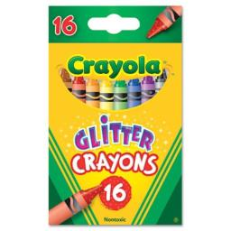 Crayola Glitter Crayons 16/Pkg 52-3716 (Pack of 6) [Misc.]