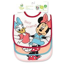 Minnie Mouse Terrycloth With Vinyl Deluxe Baby Bib