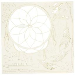 """49 and Market Wild & Free White Archival Chipboard 6""""x6"""""""
