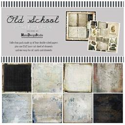 """49 and Market OS88909 Collection Pack 12""""X12""""-Old School, Multi"""