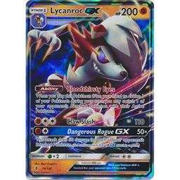 Pokemon Lycanroc-GX - 74/145 - Ultra Rare - Sun & Moon: Guardians Rising