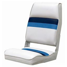 Wise Fold-Down Seat (White/Navy/Blue)
