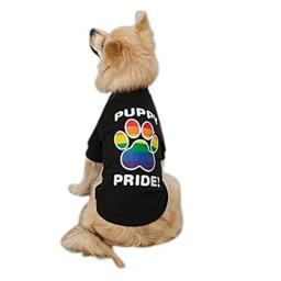"""Casual Canine Puppy Pride Tee Shirt for Dogs, 20"""" Large, Black"""