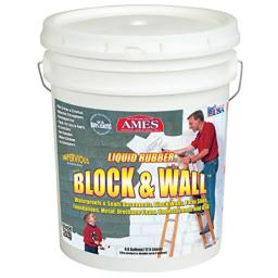 Ames Water Base High Strength Elastomeric Liquid Rubber, 5 Gallon White