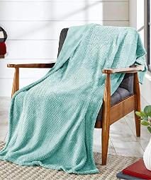 Better Homes and Gardens Throw Blanket (Light Teal)
