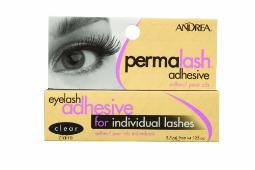 Andrea Permalash Adhesive - Clear, 0.125-Ounce Pack of 6
