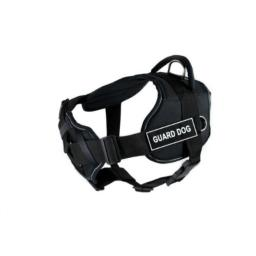 Dean & Tyler Black with Reflective Trim Fun Dog Harness with Padded Chest Piece, Guard Dog, X-Large, Fits Girth Size 34-Inch to 47-Inch