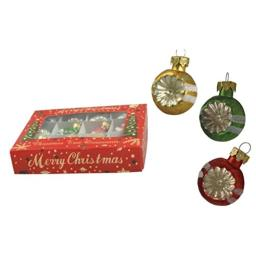 Bethany Lowe Christmas - Retro Stripe Mercury Ball Ornament Set - LG0756