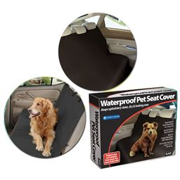 UltraSafe Dog Kennel Waterproof Pet Seat Cover (Black)