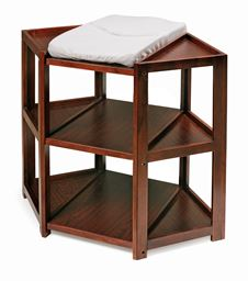Badger Basket Co Cherry Diaper Corner Baby Changing Table