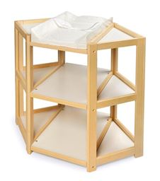 Badger Basket Co Natural Diaper Corner Baby Changing Table