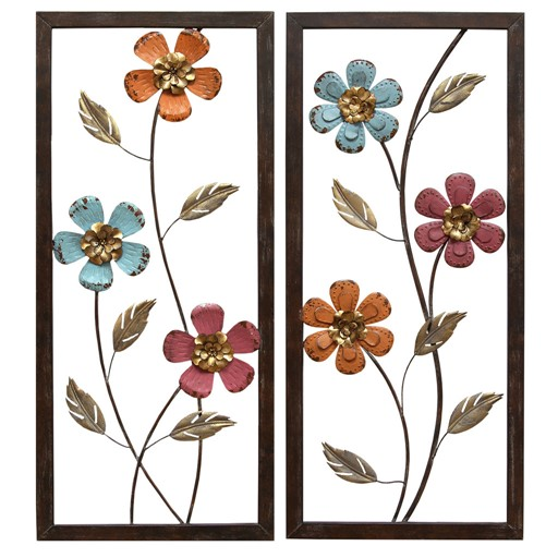 Stratton Home Decor Floral Panel Wall Decor