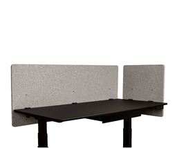 "Luxor Reclaim 2-Pack Desktop Privacy Panel In Misty Gray - 60""W x 24""H"