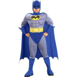 Batman The Brave and Bold Deluxe Muscle Chest Batman Child Costume Size: Large (10-12)