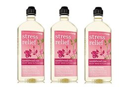 Bath & Body Works Aromatherapy Stress Relief Sandalwood Rose Body Wash (Lot of 3)